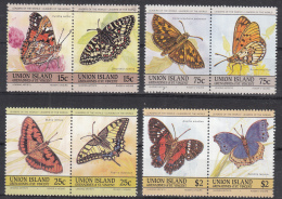 Union Island - Vlinders/Butterflies/Schmetterlinge - MNH - M 94-101 - Vlinders