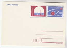 1977 POLAND Postal STATIONERY Card 20th ANNIV SPACE CONQUEST Cover Stamps