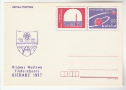 1977 POLAND Postal STATIONERY Card SIERADZ, 20th ANNIV SPACE CONQUEST Cover Stamps