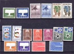 1957   Les 8 Pays, (complet), Cote 191 €, - Europa-CEPT