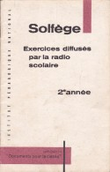 Solfège Exercices Diffusés Par La Radio Scolaire 2ème Année - Musique & Instruments