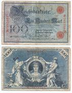 Alemania - Germany 100 Mark 1908 Nº Rojos Pick-33-a Ref 30-2 - [ 2] 1871-1918 : Imperio Alemán