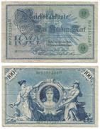 Alemania - Germany 100 Mark 1908 Nº Verdes Pick 34 Ref 31-2 - [ 2] 1871-1918 : Imperio Alemán