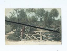 CPA  -  Douai  -  Jardin Public , Pont Rustique - Douai