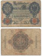 Alemania - Germany 20 Mark 1910 7 Nºs Pick 40.b Ref 32-3 - [ 2] 1871-1918 : Imperio Alemán