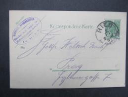 GANZSACHE RIED - Prag Michael Hassreidter 1907  /// D*21305 - 1850-1918 Imperium