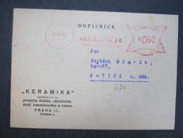 BRIEF Praha Keramika 1945 Frankotype Freistempel Postfreistempel  /// R7477 - Briefe U. Dokumente