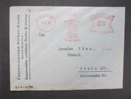 BRIEF Praha Ceskomoravska Kolben 1931 Frankotype Freistempel Postfreistempel  /// R7485 - Briefe U. Dokumente