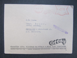 BRIEF Rakovnik Otta 1943  Frankotype Freistempel Postfreistempel  /// R7488 - Böhmen Und Mähren