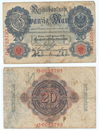 Alemania - Germany 20 Mark 1914 7 Nºs Pick 46.b Ref 39-5 - [ 2] 1871-1918 : Imperio Alemán