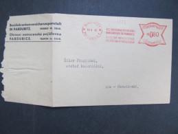BRIEF Pardubice Okreni Nemocenska 1943 Frankotype Freistempel Postfreistempel  /// R7501 - Böhmen Und Mähren