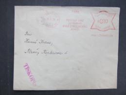 BRIEF Praha Podpurny Svaz 1939  Frankotype Freistempel Postfreistempel  /// R7503 - Böhmen Und Mähren