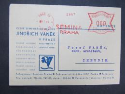 BRIEF Praha SEMINA 1941 Frankotype Freistempel Postfreistempel  /// R7510 - Böhmen Und Mähren