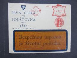 BRIEF Praha Prvni Ceska 1941 Frankotype Freistempel Postfreistempel  /// R7518 - Böhmen Und Mähren