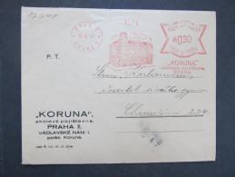 BRIEF Praha Koruna 1941  Frankotype Freistempel Postfreistempel  /// R7520 - Böhmen Und Mähren
