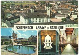 LUSSEMBURGO - LUXEMBOURG - 1968 - 2F + Flamme Echternach Pour Vos Vacances - Abbaye Et Basilique - Multivues - Viaggi... - Echternach