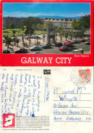Eyre Square, Galway City, Ireland Postcard Posted 1992 Stamp - Galway