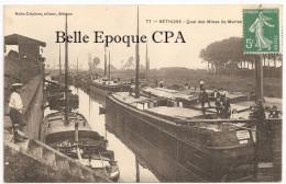 62 - BÉTHUNE - Quai Des Mines De Marle +++++ Nolle-Delpierre, Béthune, #77 +++++ RARE / PÉNICHES - Bethune