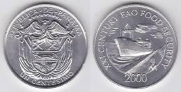 PANAMA 1 Centésimo 2.000  FAO    KM# 132      SC/UNC    T-DL-10.270 - Panamá