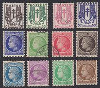 FRANCE Francia Frankreich - 1945/47, Série Complète Obliterée Yvert 670/681