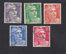 FRANCIA - FRANCE - 1951, Serie Completa Marianna Di Gandon, Usati, Yvert  883/887
