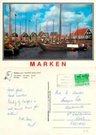 Harbour, Marken, Noord-Holland, Netherlands Postcard Posted 1990 Stamp - Marken