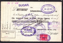 S.Africa: 1942, Mosenthal Bros., Standard Bank,  6d Revenue Stamp - Cheques & Traveler's Cheques