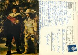 Rembrandt, Art Painting Postcard Posted 1969 Stamp - Peintures & Tableaux