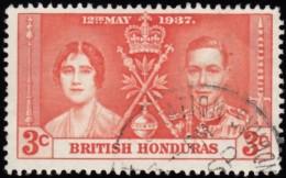 BRITISH HONDURAS - Scott #112 Coronation (*) / Used Stamp - British Honduras (...-1970)