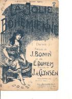 Partition- La Jolie Boehemienne -- Paroles: J. Bonin Et E.Duhem -- Musique De J. De Clynsen - Non Classés
