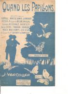 Partition-Quand Les Papillons -- Paroles: Roland GAEL -- Musique:J. Vercolier - - Non Classés