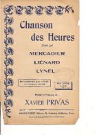 Partition -Chanson Des Heures -- Paroles: Xavier Privas -- Musique: Xavier Privas - - Non Classés