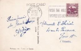 88145 - 1 TP, Tarif  5 F, OMEC JERUSALEM  8 1953 Avec Flamme Renversée S/CP Pour La France TB - Jordanie