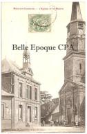 62 - METZ-en-COUTURE - L'Église Et La Mairie ++++ Dépôt Chez M. Davenne, Débit De Tabac ++++ 1907 ++++ RARE - Frankreich