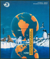 CHILE 1989 WORLD STAMP EXPO AT WASHINGTON S/S, ARCTIC AND ANTARCTIC FAUNA** (MNH) - Cile