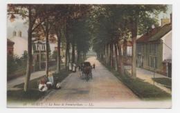 77 SEINE ET MARNE - MORET La Route De Fontainebleau - Moret Sur Loing