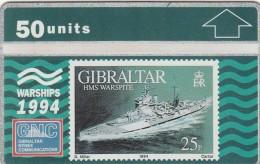 GIBRALTAR 1994  - WARSHIPS - HMS WAESPITE
