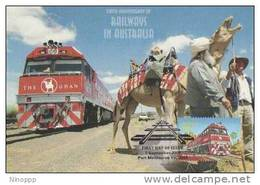 Australia-2004 Railway,50c The Ghan   Maximum Card - Maximumkaarten