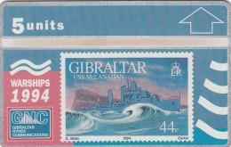 GIBRALTAR 1994  - WARSHIPS - USS McLANAHAN - Gibraltar