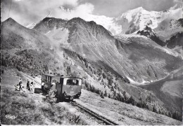 LES HOUCHES HAUTE-SAVOIE  401 LE TRAIN DU MONT-BLANC  ET DE L'AIGUILLE DE BIONNASSAY  COLL. RAVANEL  CIM - Les Houches