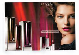 Cartes Parfumées CARTE RITUEL De  BEAUTE  MAKE UP De  LANCOME CARTE TRIPLE - Modern (vanaf 1961)