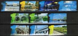 2014 Finland, Bridges, Complete Used Set.