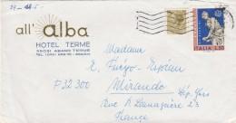 Italie  Lettre Entête All ALBA Hôtel Terme ALBANO TERME - Timbre Europa - 6. 1946-.. Republic