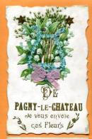 MAZ-02x  De Pagny-le-Château Je Vous Envoie Ces Fleurs. Muguet. FAntaisie, En Relief, Gaufrée, Circulé Sous Enveloppe - Other Municipalities