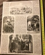 ANCIEN DOCUMENT 1860 PROMENADE ARTISTIQUE DANS ROME ERNEST MEYER SCHWEINFURT MAX MICHAEL LUTHER TERRY OTTO BRANDT - Collections