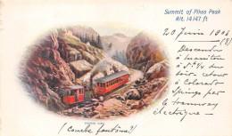 ¤¤  -   ETAT-UNIS  -  COLORADO  -  Summit Of Pikes Peak  -  Phamtom Curve  -  Train , Chemin De Fer  -  ¤¤ - Etats-Unis