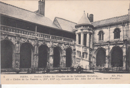 """G , Cp , 37 , TOURS , Ancien Cloître Du Chapitre De La Cathédrale Saint-Gratien, Dit """"Cloître De La Psalette"""", (XVe, XVI - Tours"""