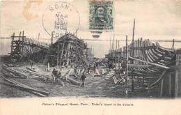 ETAT-UNIS - CONNECTICUT - Construction De Bateaux  - Palmer's Shipyard, Noank, Conn - Fisher's Island In The Distance - United States