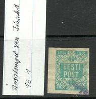 ESTLAND ESTONIA 1919 Provisional Line Cancel IISAKU On Michel 2 - Estonia
