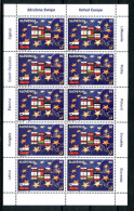 1072/ Slovenia 2004 Mi.No. 469 ** MNH MS Flag Latvia Cyprus Czech Estonia Hungary Malta Poland Slovakia Lithuania Latvia
